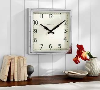 Pottery Barn Newgate Chrome Wall Clock