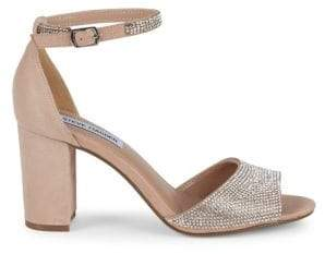 0857333568f Mae Chunky Heel Jeweled Leather Sandals