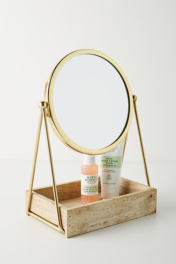 Anthropologie Mia Tabletop Vanity Mirror By in Black Size XS