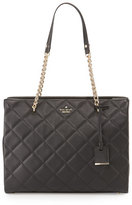 Kate Spade Emerson Place Phoebe Quilted Leather Tote Bag, Black
