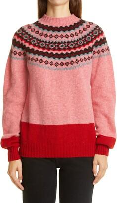 Molly Goddard Benny Fair Isle Wool Sweater