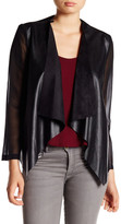 Blvd Faux Leather Draped Jacket