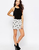 JDY J.D.Y Double Polka Dot Relaxed Shorts