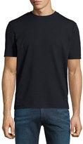 Armani Collezioni Embossed Net-Pattern T-Shirt, Navy Blue