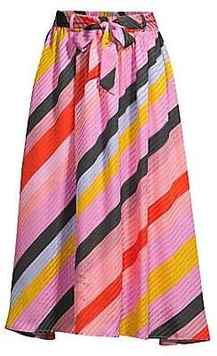 Stine Goya Women's Audrey Striped Midi Skirt