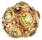 Ring 14K Chrysoberyl & Diamond