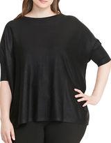 Lauren Ralph Lauren Plus Plus Kartra Foil Short-Sleeve Sweater