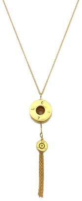 Slate & Salt Bullet Tassel Necklace