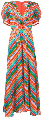 Saloni Striped Button-Up Dress