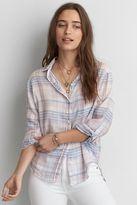 American Eagle Outfitters AE Boyfriend Plaid Shirt