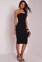 Missguided Layered Bandeau Midi Dress Black