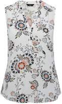 M&Co Petite sleeveless floral print shirt