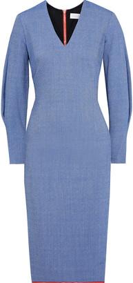 Victoria Beckham Melange Crepe Dress