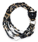 Alexis Bittar Crystal Encrusted Multi-Strand Panther Necklace