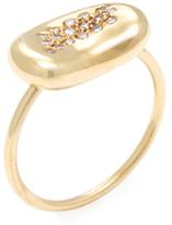 Tiffany & Co. Vintage Elsa Peretti 18K Yellow Gold & Diamond Kidney Bean Ring