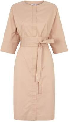 Peserico Cotton Chain-Detail Shirt Dress