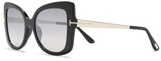 Tom Ford 54mm Butterfly Sunglasses
