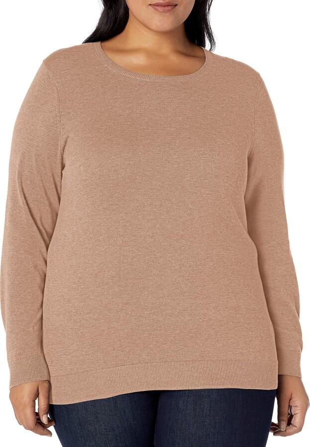 Amazon Essentials Women's Plus Size Long-Sleeve Lightweight Crewneck Sweater