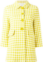Herno gingham checked coat - women - Cotton/Polyester/Acetate - 44