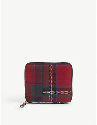 Comme Pocket Tartan wool-blend small wallet