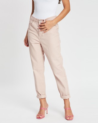 Missguided Riot High-Waisted Mum Jeans