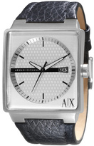 Armani Exchange A X Square Leather Watch