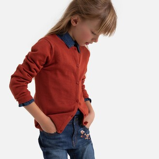 La Redoute Collections Crew-Neck Cardigan, 3-12 Years