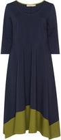 Isolde Roth Plus Size Cotton blend colour block dress