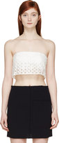 3.1 Phillip Lim White Silk Embroidered Bustier