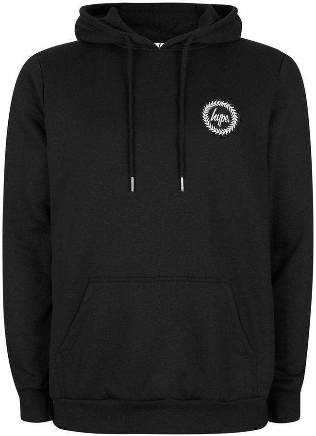 Hype Black Drip Design Hoodie*