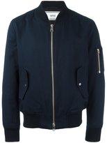 Ami Alexandre Mattiussi zipped bomber jacket - men - Cotton/Linen/Flax - L