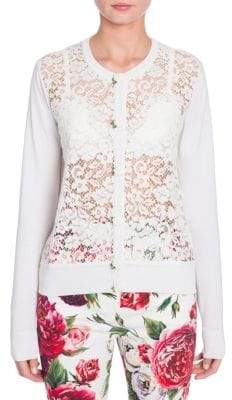 Dolce & Gabbana Long Sleeve Lace Front Cardigan