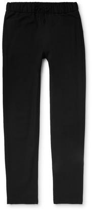 A.P.C. Black Kaplan Cotton And Wool-Blend Drawstring Trousers