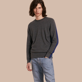 Burberry Colour Block Cashmere Cotton Sweater