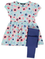 George Floral Print Dress and Leggings Set