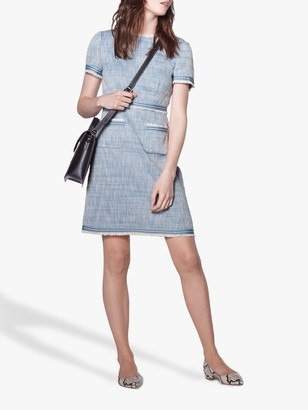 LK Bennett Sidney Tweed Shift Dress, Blue