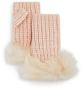 UGG Lurex® Crochet Gloves with Shearling Sheepskin Cuff