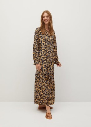 MANGO Printed long dress orange - 2 - Women