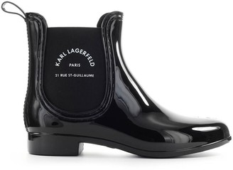 Karl Lagerfeld Paris Maison Black Chelsea Boot