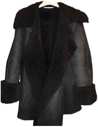 Saint Laurent Black Shearling Coats
