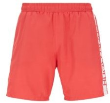 BOSS Medium-length swim shorts with heat-sealed logo print