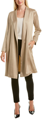 Lafayette 148 New York Brinsley Silk Duster Jacket