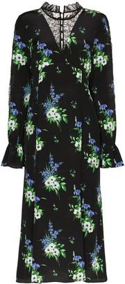 Les Rêveries Daffodil Print Midi Dress