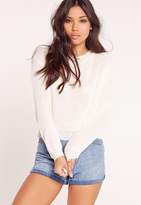 Missguided Crew Neck Sweater White