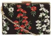 Dorothy Perkins Green Lace Box Clutch Bag