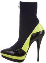 Versace Leather Zip-Up Ankle Boots