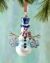 Christopher Radko Snowflake Cascasde Christmas Ornament