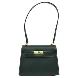 Hermes Kelly Mini Green Leather Handbags