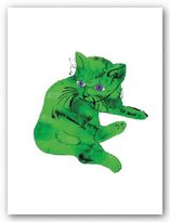 """Rare Posters Cat (Green) by Andy Warhol 31.5""""x23.5"""" Art Print Poster"""