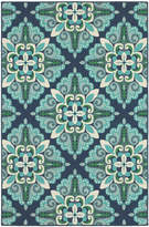 Blue & Green Arabesque Rug